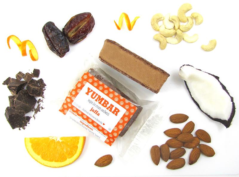Jaffa Vegan Ice Cream, dairy free, gluten free, refined sugar free, all ingredients