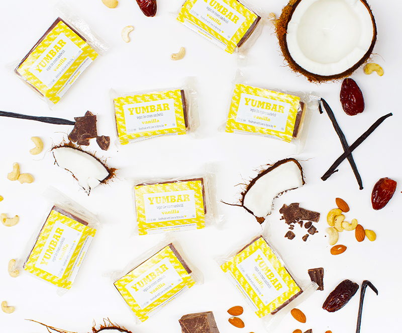 Vanilla Vegan Ice Cream, dairy free, gluten free, refined sugar free, with packaging, ingredients