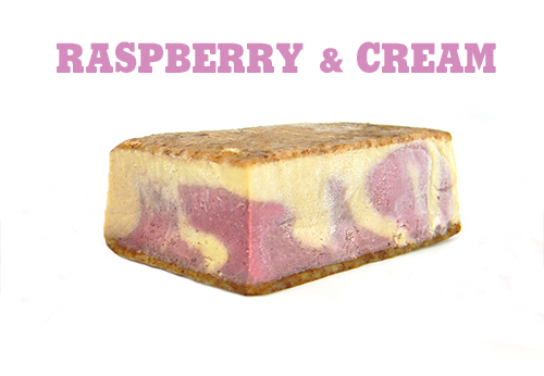 Raspberry & Cream Vegan Ice Cream, dairy free, gluten free, refined sugar free,