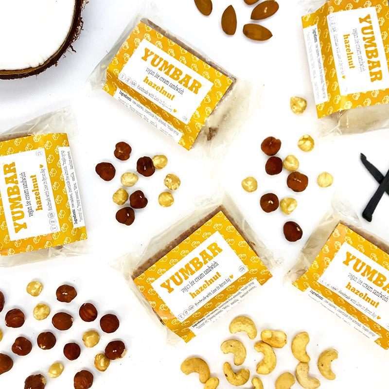 Jaffa Vegan Ice Cream, dairy free, gluten free, refined sugar free, with packaging & ingredients