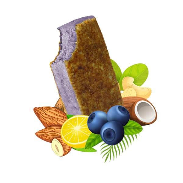Blueberry Cheesecake Vegan Ice Cream, dairy free, gluten free, refined sugar free,