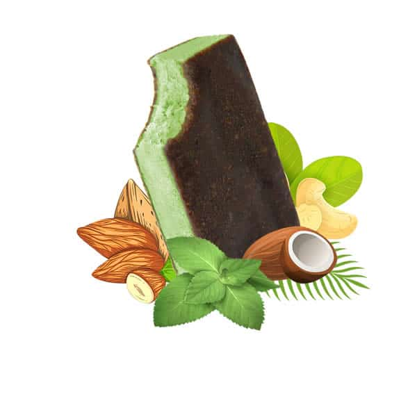 Mint Vegan Ice Cream, dairy free, gluten free, refined sugar free,