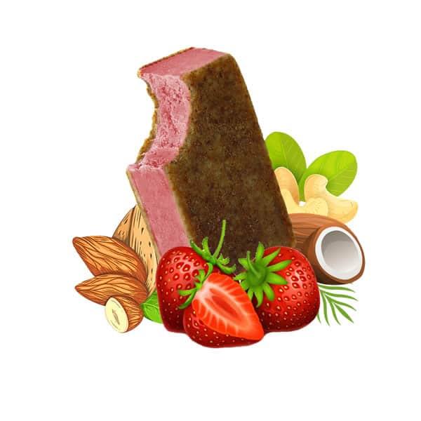 Strawberry Vegan Ice Cream, dairy free, gluten free, refined sugar free,